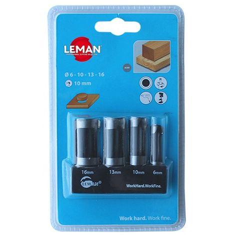 Coffret de 4 mèches à bouchonner WS D. 6,10,13,16 mm Q. 10 mm - 200.500.04 - Leman