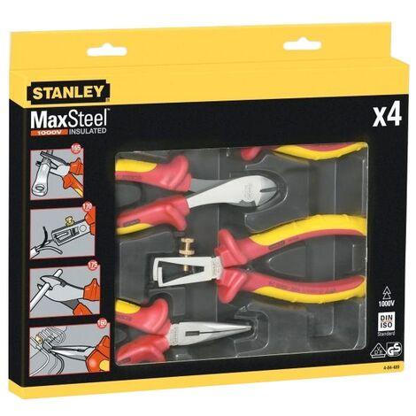 Coffret de 4 pinces isolées 1000 V MAXSTEEL STANLEY