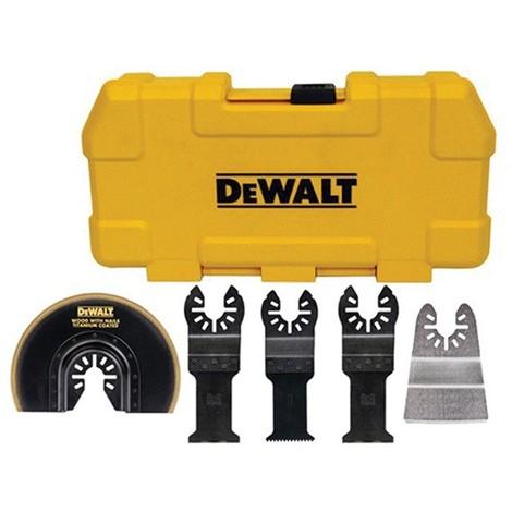 Coffret de 5 lames pour Multicutter DEWALT - multimatériaux - DT20715