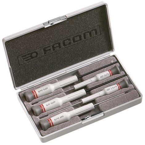 Coffret de 5 tournevis Micro-Tech Fente - Pozidriv Facom AEF.J5