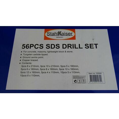 Coffret de 56 foret SDS pro