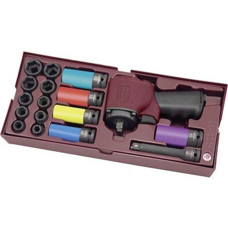 Coffret de clé à chocs / douilles impact 17 pièces KRAFTWERK 338.65