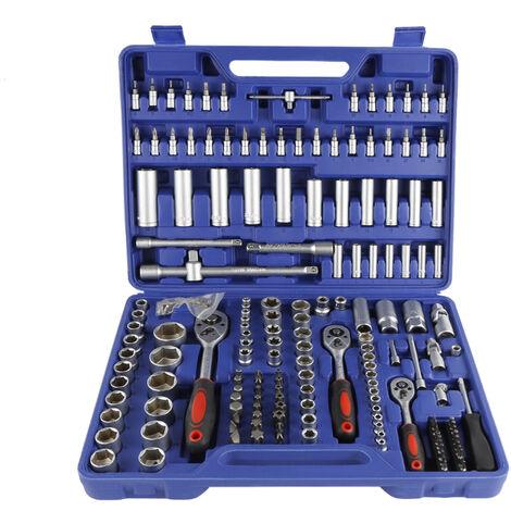 Coffret de clés à cliquets de 171 pièces set compact clés à douilles 1/2, 3/8 et 1/4 pouce