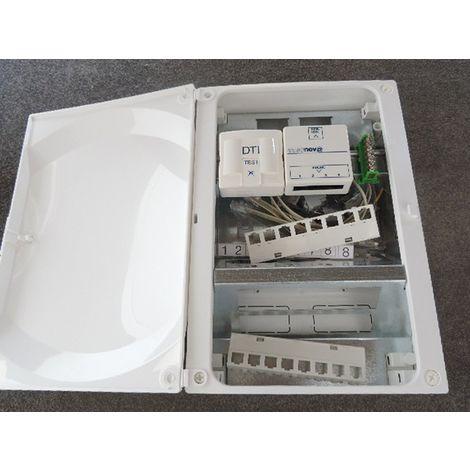Coffret de communication 2 rangées équipé grade 1 avec porte 350x250x154mm VDI GALEO13 ABB 799152