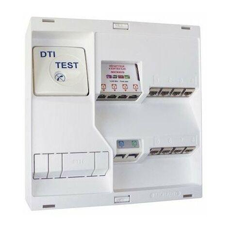 Coffret de communication complet NEO Grade 2TV - 8RJ45 DTI + Filtre TV 4S