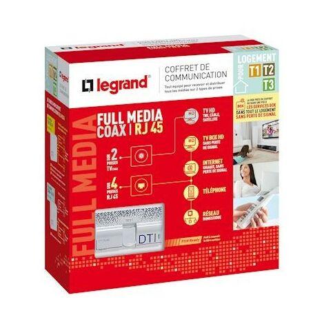 "main image of ""COFFRET DE COMMUNICATION FULL MEDIA COAX/RJ PETIT LOGEMENT / Legrand"""