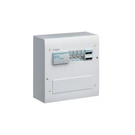 Coffret de communication semi-équipé 4xRJ45 - Gr 2 - TN405 - HAGER