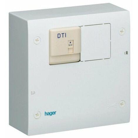 Coffret de communication semi-équipé téléphone / TV - Hager