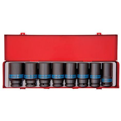 Coffret de douilles à choc longues 3/4 métriques - 26 à 38 mm - -