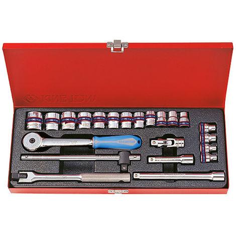 Coffret de douilles métriques et accessoires 3/8 - 22 pièces
