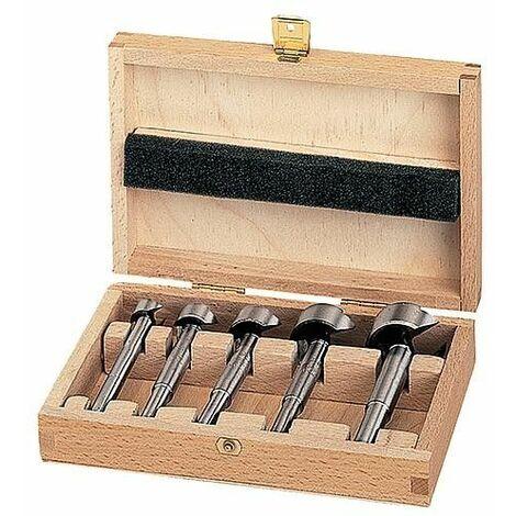 Coffret de forets à façonner heller® 0396 FORSTNER, tige cylindrique, 5 pièces