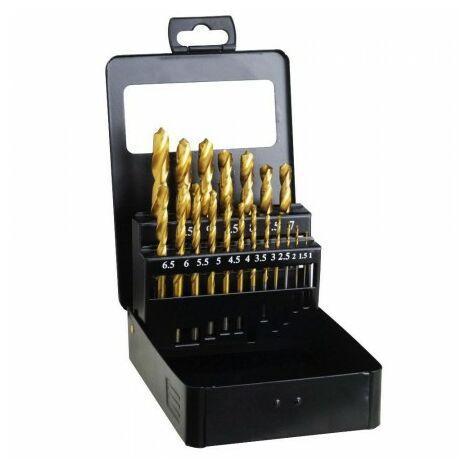 Coffret de forets hss titane 1-10 mm. 19 unités