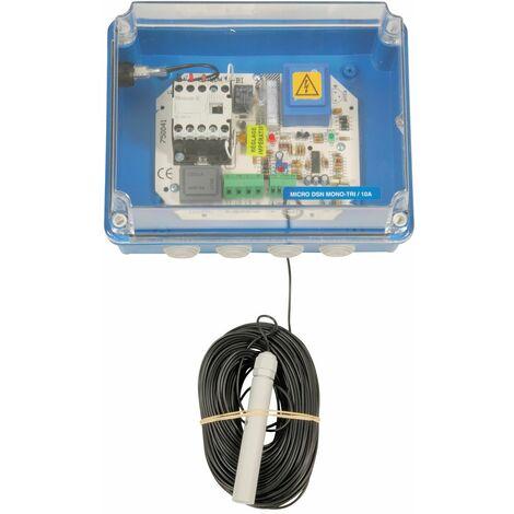 """main image of """"Coffret de gestion et de protection manque d'eau Bi-tension - Micro DSN Bi-Tension/10 A avec électrode + 40 m de câble"""""""