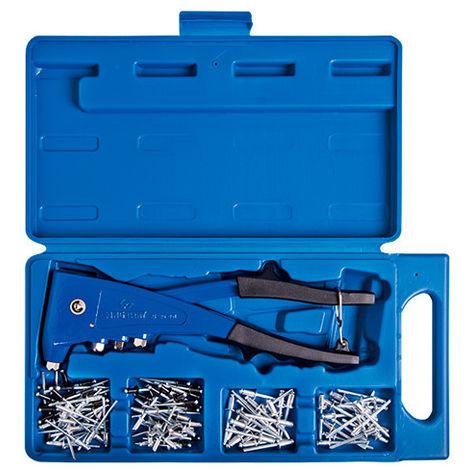 Coffret de pince à riveter avec rivets - 121 pièces - Rivets 2,4 à 4,8 mm