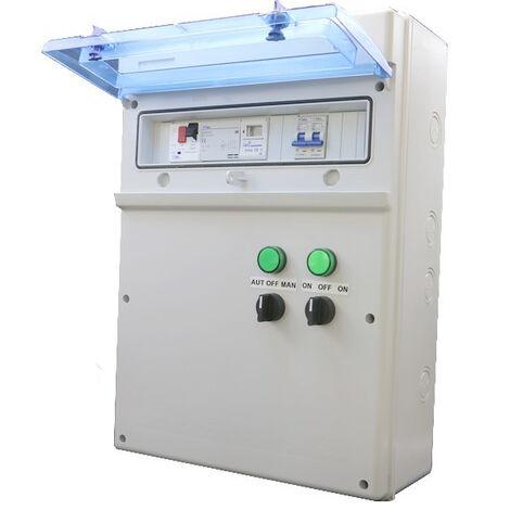 Coffret de piscine précablé pour pompe de filtration jusqu'à 1300W + éclairage 100W