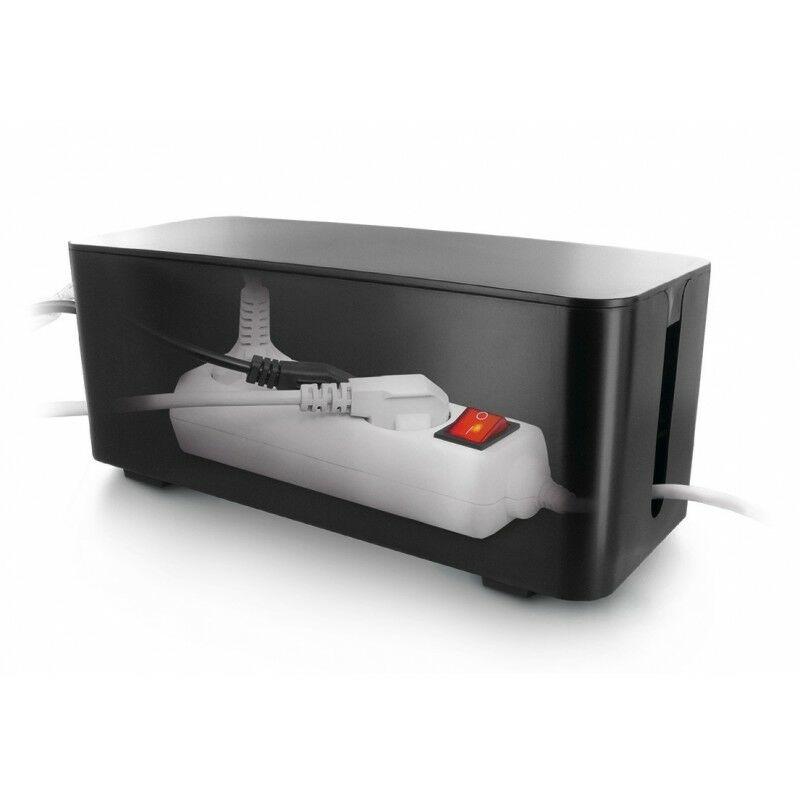 Coffret De Rangement Câbles Et Multiprises Taille Moyenne Noir - BOITE01N