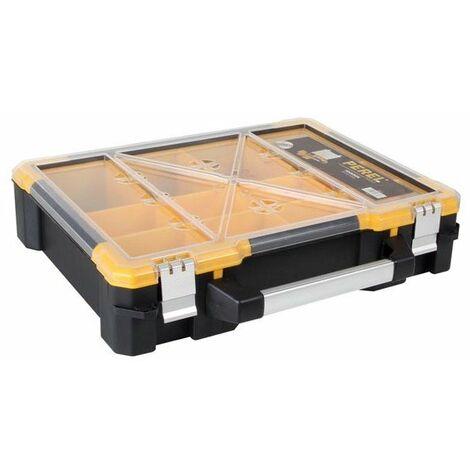 "Coffret De Rangement En Plastique Avec Bacs Amovibles - 19"""