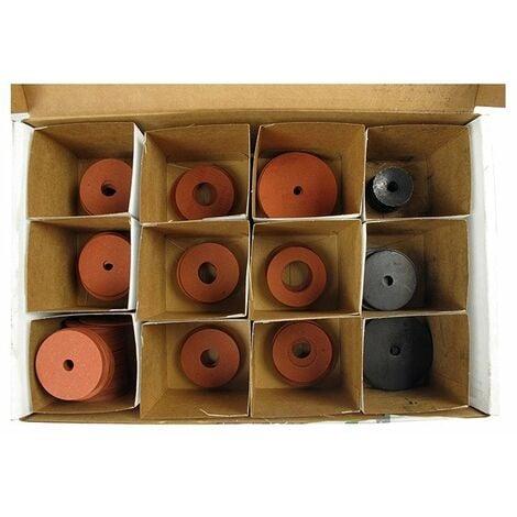 Coffret de rondelles acier et fibres - 185 pièces