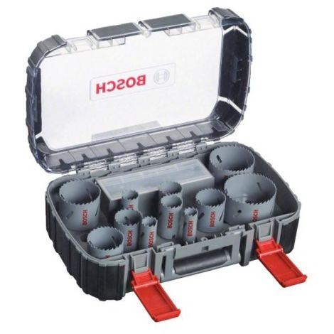 Coffret de scies trépans bimétal, maintenance, 11 pièces