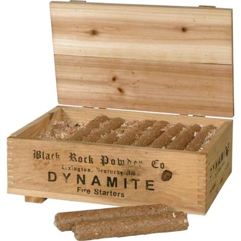 Coffret déco de 20 allume-feux - bâtons dynamite