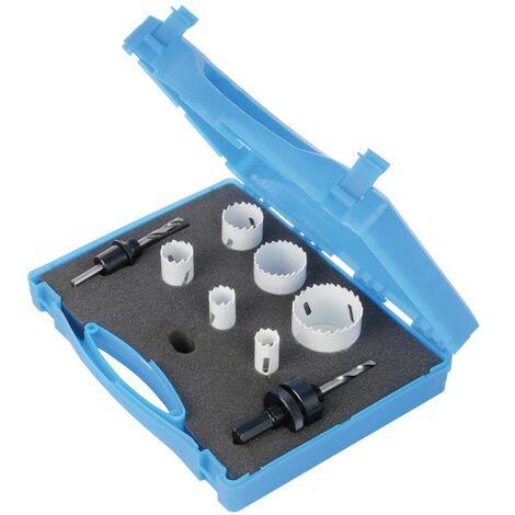 """main image of """"Coffret d'électricien scies-cloches bi-métal 9 pcs, ø 18 - 51 mm, Diamètre 18 - 51 Mm"""""""