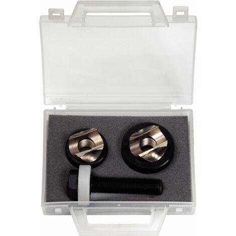 Coffret d'emporte-pièces spécial plombier, Ø32,5 - 35mm