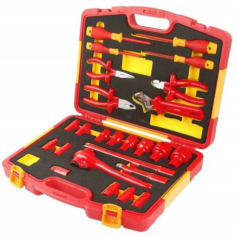 Coffret d'outils à main isolés 25 pcs