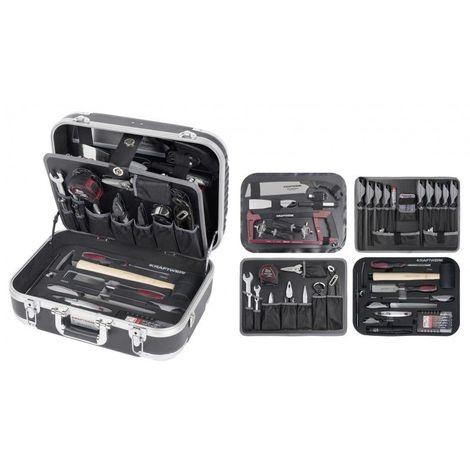 Coffret d'outils B140 pour ébéniste ABS 113 pcs KRAFTWERK 397.11