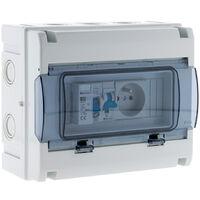 Coffret électrique étanche IP65 8 modules équipé livré avec accessoires - Zenitech