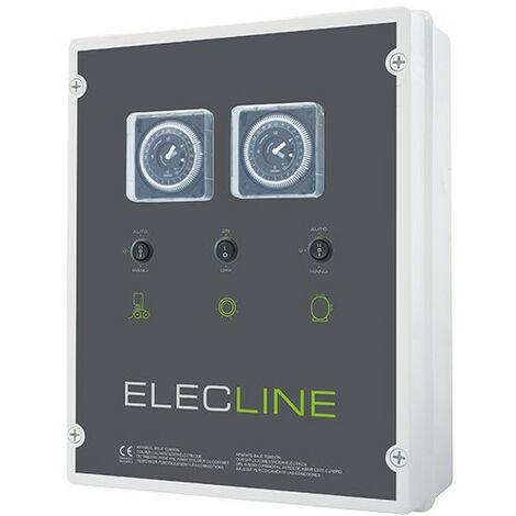 Coffret électrique filtration + éclairage + robot - Coffret électrique: Filtration + surpresseur + Transfo 600 VA