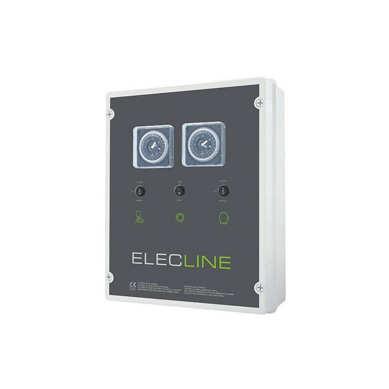 Coffret électrique filtration + éclairage + robot - Coffret électrique: Filtration + surpresseur + Transfo 600 VA - WA CONCEPTION