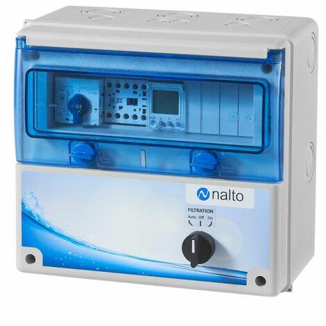 Coffret Electrique Piscine Filtration - Tableau étanche avec horloge NALTO Coffret piscine pour pompe de filtration