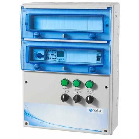 Coffret Electrique Piscine Multifonctions Filtration Avec 2 Circuits Eclairage 100W Inclus NALTO