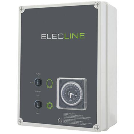 coffret electrique pour filtration + 1 projecteur 100w - detf 1 p100d - wa conception