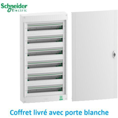 Coffret électrique saillie livré avec PORTE 6 rangées 24 modules Rési9 Schneider R9H24406