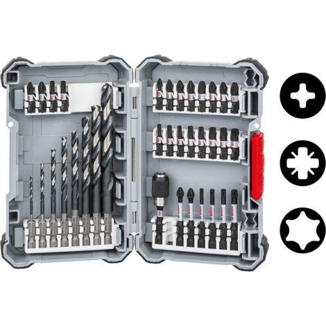 Coffret embouts de vissage Impact Control et forets hélicoïdaux HSS Twist 35 pièces BOSCH 2608577148
