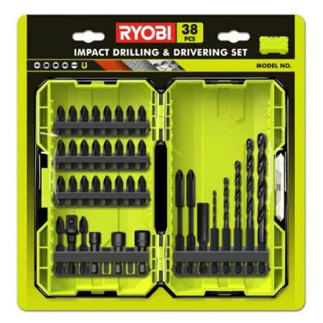 Coffret empilable impact RYOBI 38 accessoires perçage-vissage-boulonnage RAK38DSDI2