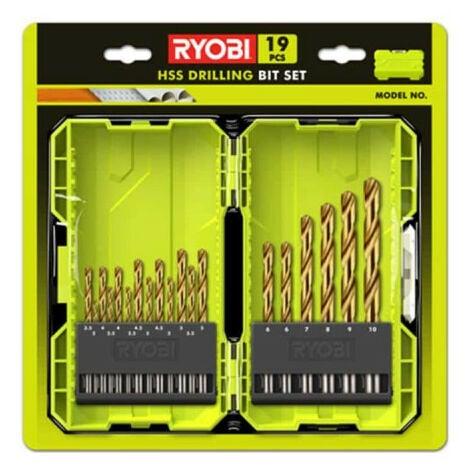Coffret empilable RYOBI 19 forets HSS métal RAK19HSS2