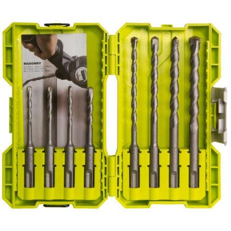 Coffret empilage 8 forets SDSPLUS RYOBI RAK08SDS2 - Noir