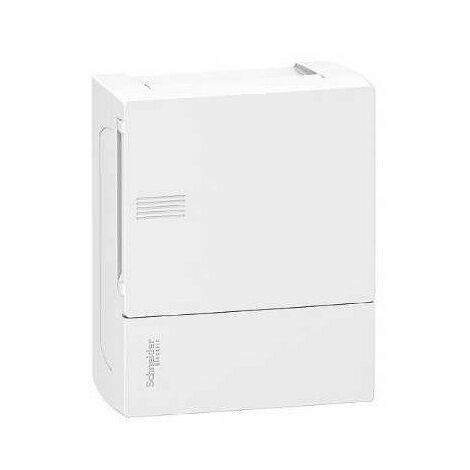 Coffret en saillie Mini Pragma - 6 modules - 1 rangée - Portillon opaque