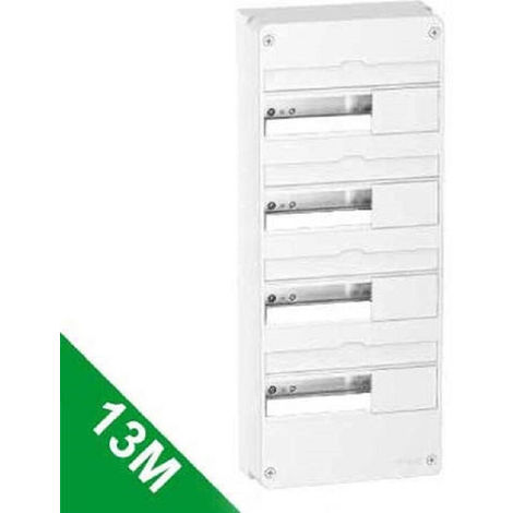 Coffret en saillie Resi9 - 4 rangées de 13 modules - Blanc RAL9003 - Schneider Electric