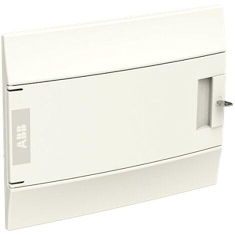 Coffret encastré ABB 12 Modules IP40 porte solide blanc