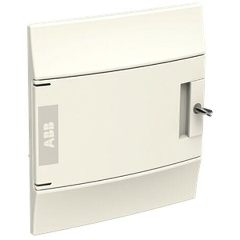 Coffret encastré blanc ABB 8 Modules IP40 porte aveugle
