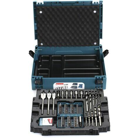 Coffret ensemble d'accessoires MAKITA 66 pièces en coffret MAK-PAC - B-43044