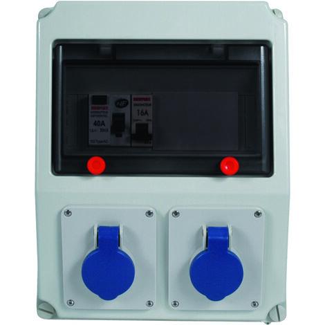 Coffret eq/cab diff 40A disj 16A - Debflex