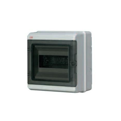 Coffret étanche 1X8 modules 1R avec porte transparente fumée étanche IP65 EUROPA ABB 152748