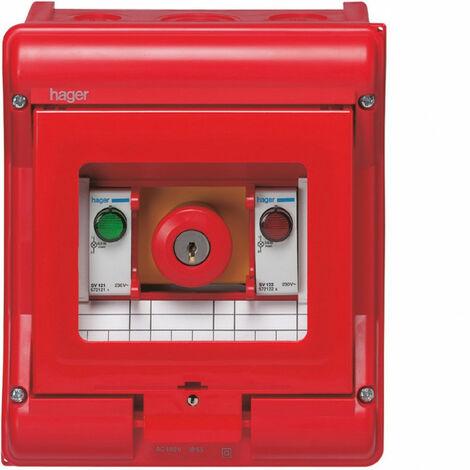 Coffret étanche Vector équipé - Coffret de sécurité Vector IP55 coup de poing (VE105U)