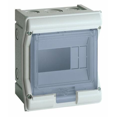Coffret étanche Vector IP55 1 rangée 3 modules (VE106F)