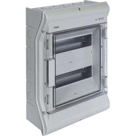 Coffret étanche vector IP55 - 2 rangées - 24 modules - H427mm L310mm - Hager