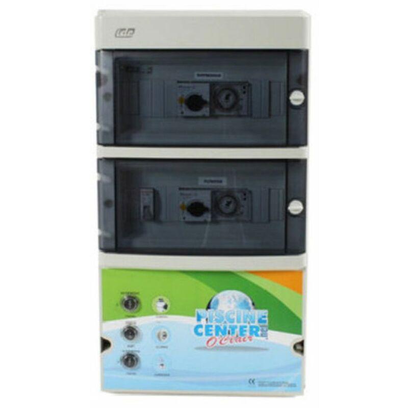 Coffret filtration piscine 1 projecteur 300 va avec balai asservi - wa conception